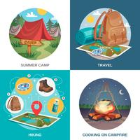 Concepto de diseño de viajes de verano