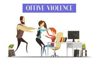 Office Violence Illustration