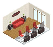 Barber Shop Isometric Interior