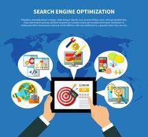 SEO Services Weltweites Konzept