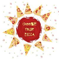 Keuze van pizza rond ontwerp