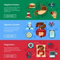 Set di banner piatto del sistema digestivo