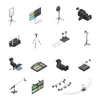 Broadcasting Equipment Icon Set
