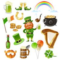 saint patrick day elements set