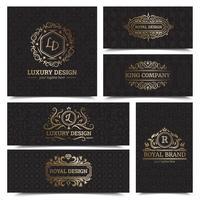 Conjunto de diseño de etiquetas de productos de lujo