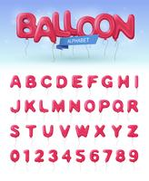 Balloon Alphabet Realistic Icon Set