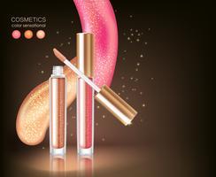 Glattes Lippenstift-Kosmetik-Konzept
