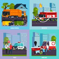 Emergency Services Icon Set