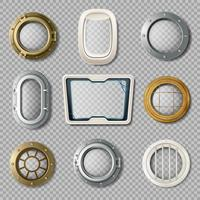 Portholes Of Various Shape Realistic Set