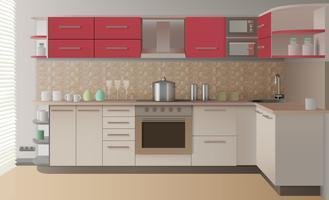 Intérieur de cuisine réaliste