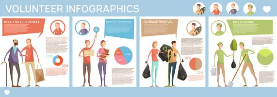 Volunteering Horizontal Poster Infographics