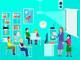 Moderne Bildung Klassenzimmer Zusammensetzung