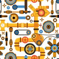 Machinery Seamless Pattern vector