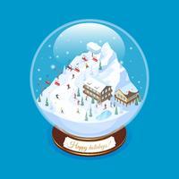 Realistic Ski Resort Souvenir