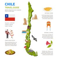 chile infographics layout med karta