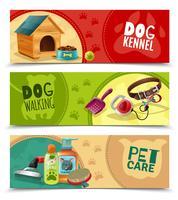 Lot de 3 bannières horizontales Pet Care