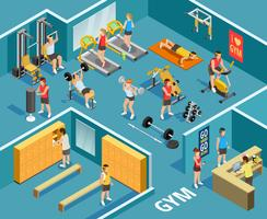 Gym isometrisk mall