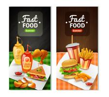 Fast Food 2 verticale bannersenset