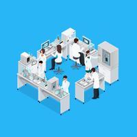 Laboratorio de ciencia composición del lugar de trabajo