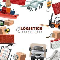 Logistik Färgrik mall