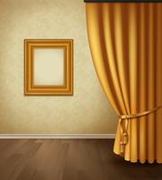 Klassiek gordijn interieur