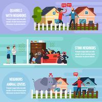 Set de Banners de Conflictos Con Vecinos