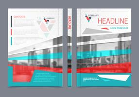 Annual Report Brochure Flyer Design vector
