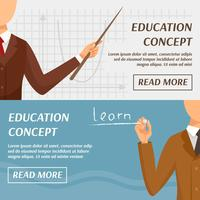 Education Concept Horizontal Banners