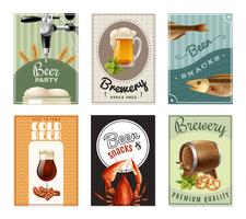 Set di banner verticale di birra