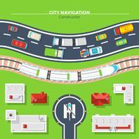 stadsnavigatie bovenaanzicht