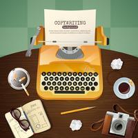 Journalist Vintage Typewriter Illustration