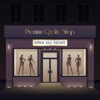 Beauty Store Front View Template