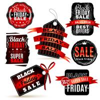 Black Fridays Labels Set vector