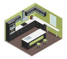 moderne keuken isometrische weergave afbeelding