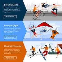 Extreme Sports People Banners