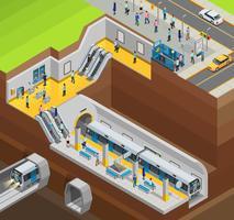 Composizione del design sotterraneo