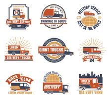 Delivery Logo Emblem Set vector