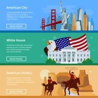 USA Flat Banners vector