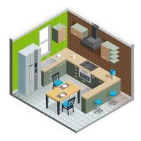Illustration intérieure de cuisine