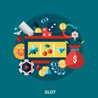 Casinò Slot Icons Round Composition