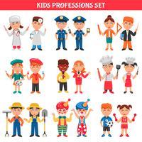 Conjunto de crianças de profissões
