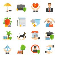 Insurance Companies Symbols Flat icons Set