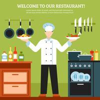 Composition de conception de cuisson professionnelle