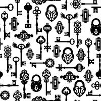 Keys And Locks Seamless Pattern vector