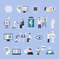 Kunstmatige intelligentie Icons Set