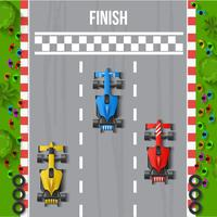 Race Finish Bovenaanzicht Illustratie