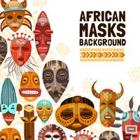 afrikanska etniska tribal masker illustration