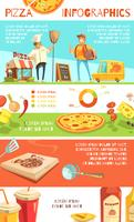 Disposition d'infographie de pizza