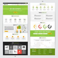 Web Page Vertical Design Set