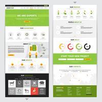 Conjunto de design vertical de página da Web